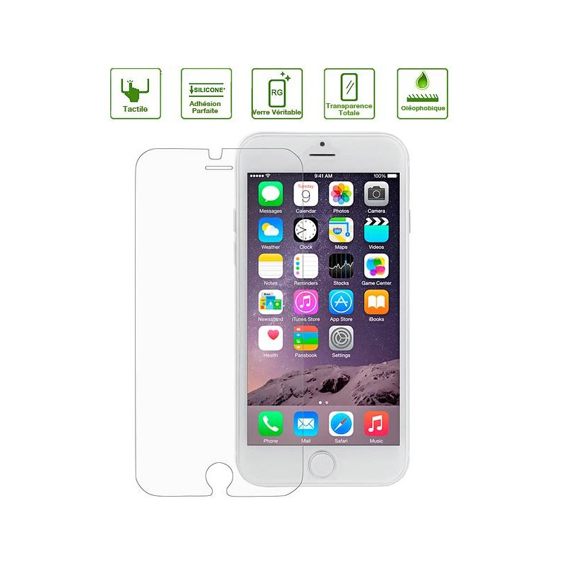 iPhone 6 Plus & 6S Plus - Protection d'Écran en Verre Trempé - Anti-Rayure - Anti-Casse - Transparent
