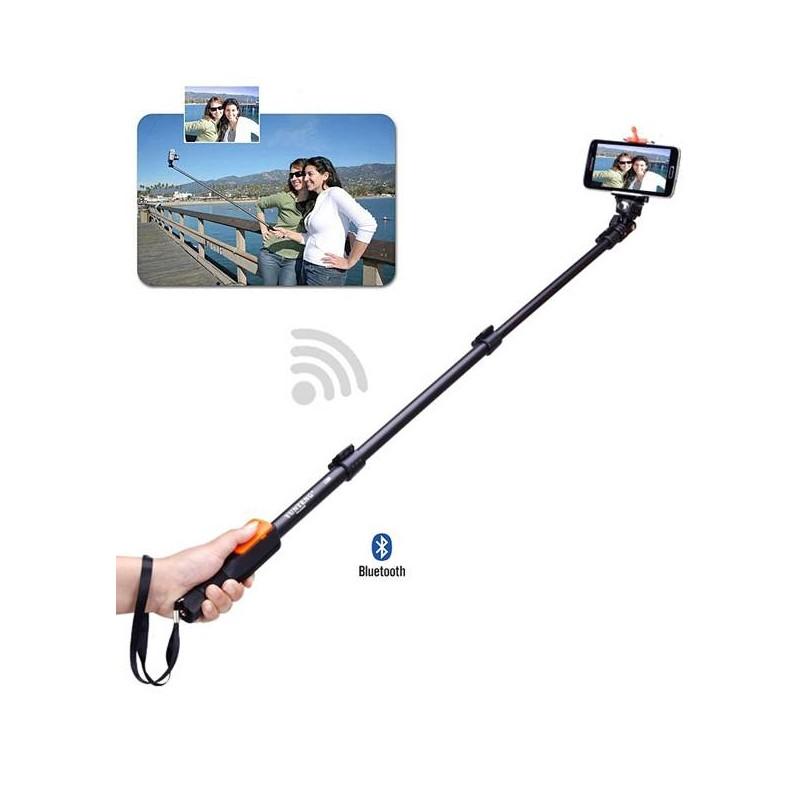 connectiques supports s  perche telescopique bluetooth yunteng pour smartphone appareil photo compatible de a cm