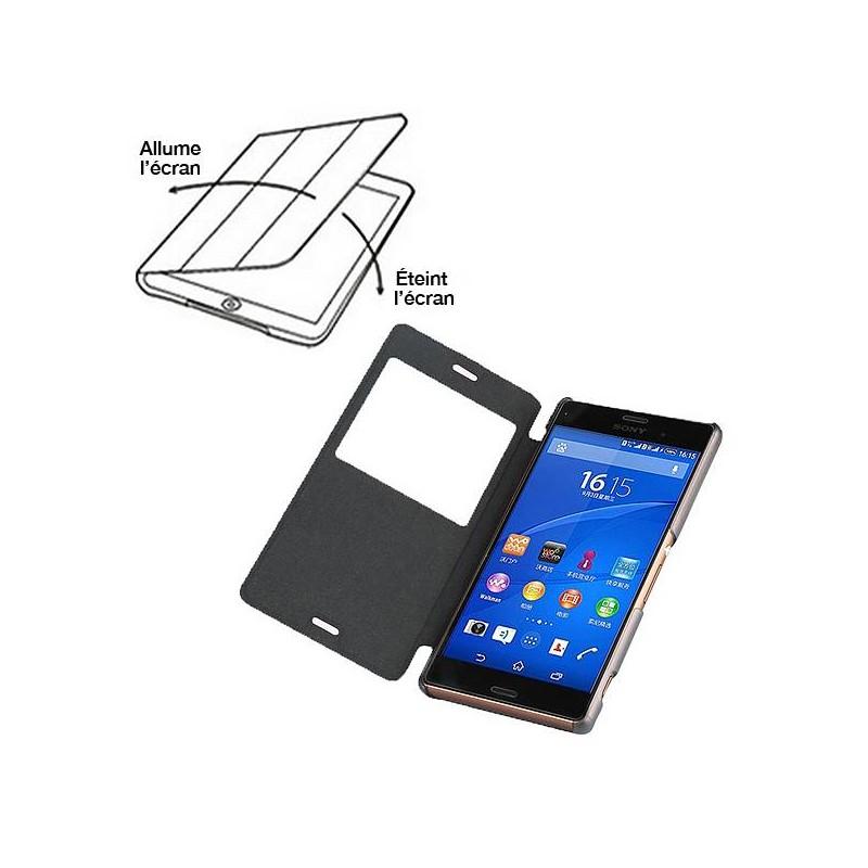 Sony Xperia Z3 - Etui BASEUS avec Fenêtre d'Appel - Rose
