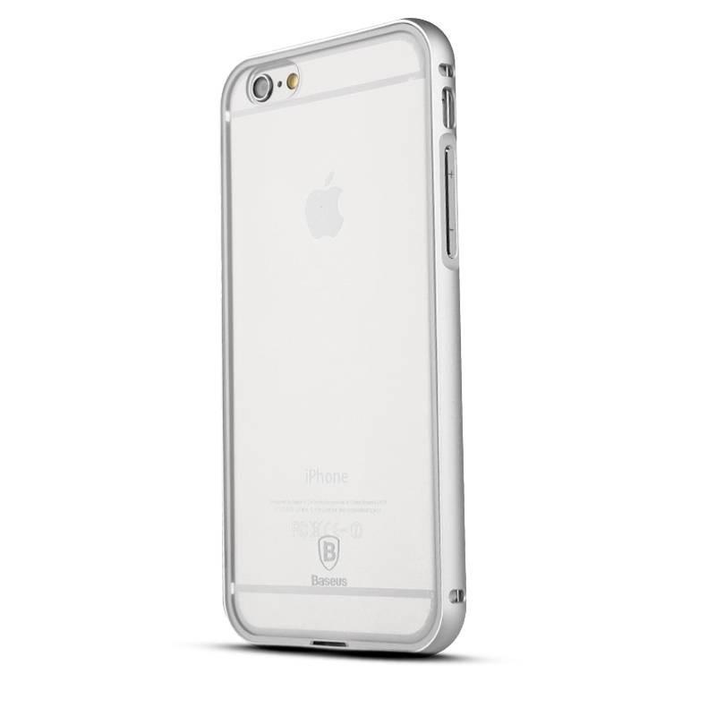 """iPhone 6 - Bumper Aluminium Baseus """"Crystal Series"""" avec Protection Arrière Transparent - Silver"""