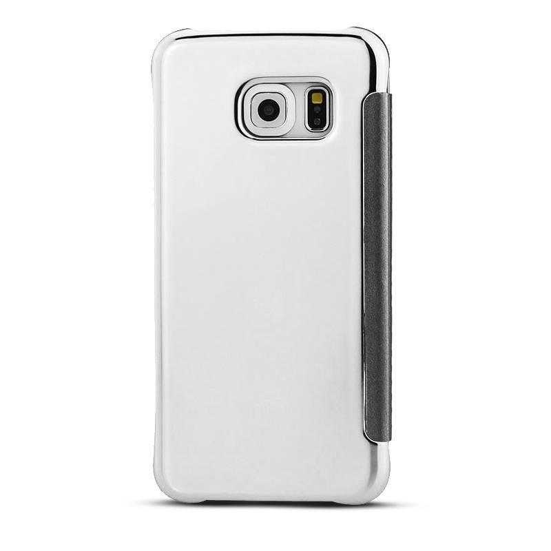 Galaxy S6 Edge - Étui Flip Cover Miroir - Argent