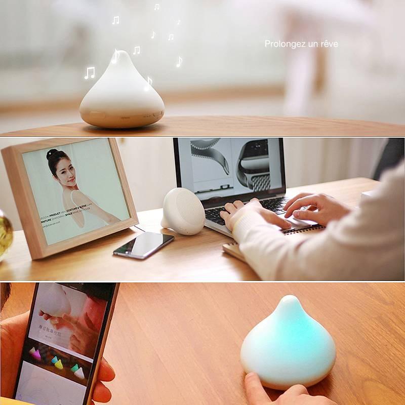 Enceinte Bluetooth STYL!PIE Chocolight - Lampe LED Couleur - Microphone Intégré