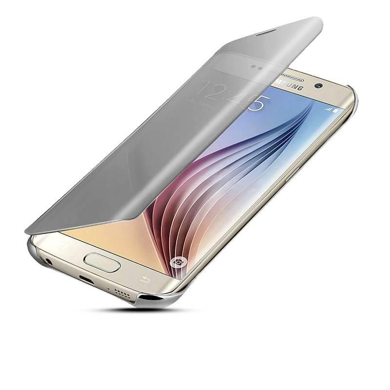 Galaxy S6 Edge Plus - Étui Flip Cover Miroir - Argent