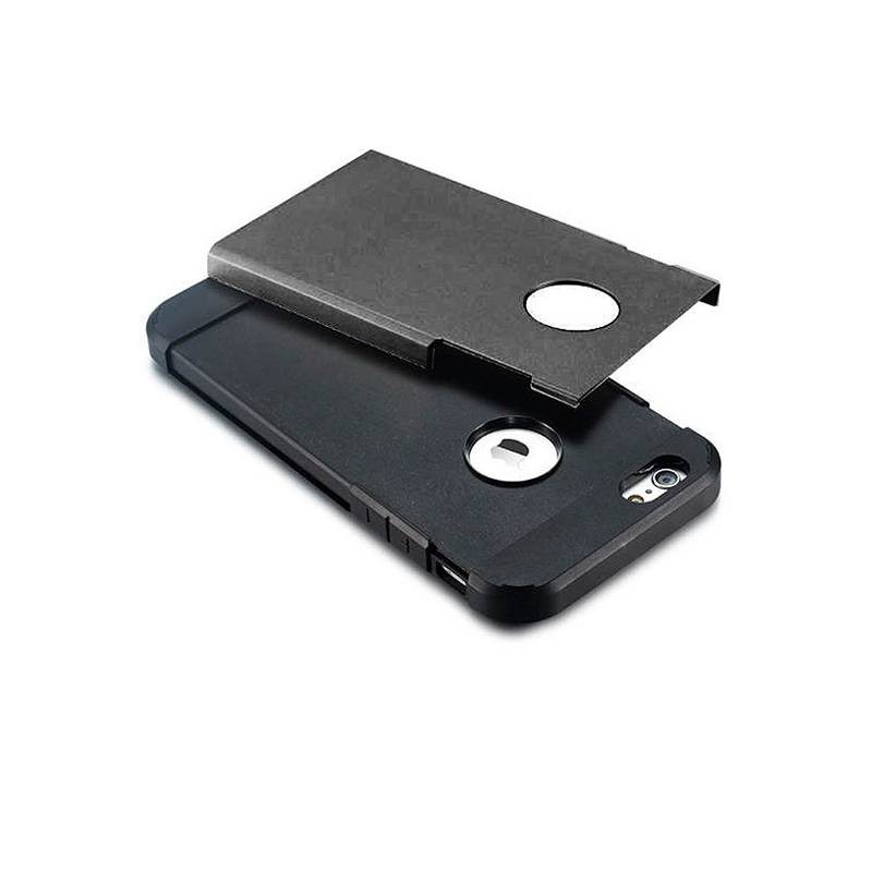 iPhone 5 & 5S - Coque Armor Double Protection - Noir