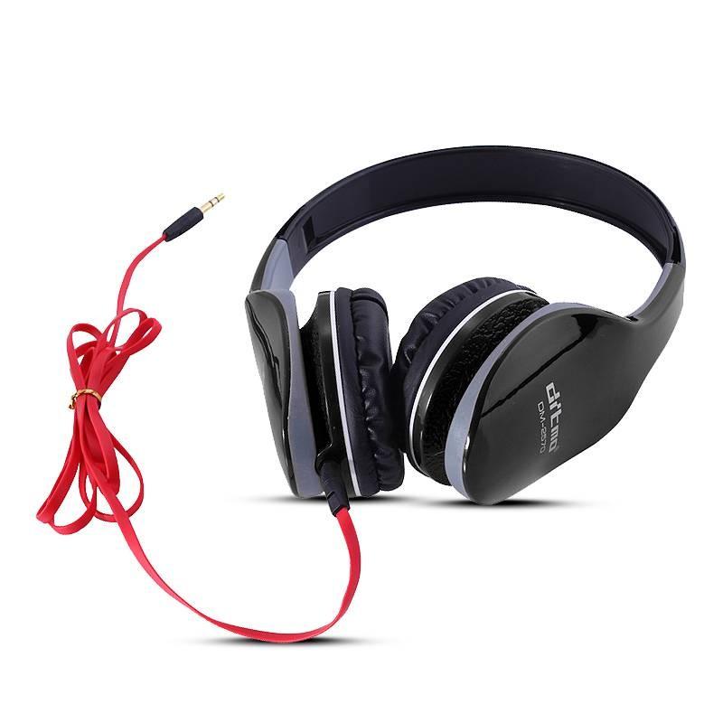 Casque Stéréo Ditmo DM2570 - Réducteur de Bruit - Télécommande avec Microphone Intégré - Noir