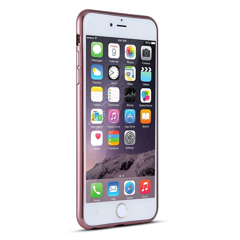 iPhone 6 Plus & 6S Plus - Housse en Silicone TPU Galvanisé - Rose