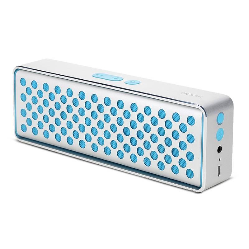 Enceinte Bluetooth NFC ROCK Mubox - Caisson Aluminium - Microphone Intégré pour Appels Mains Libres