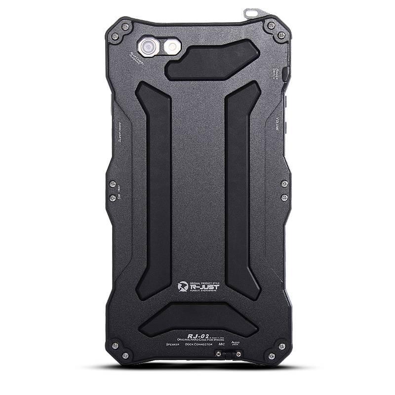 iPhone 6 & 6S - Coque Étanche Anti-Choc Anti-Poussière Anti-Rayure R-JUST GUNDAM AL - Etanche IP67 - Compatible Touch ID - Noir