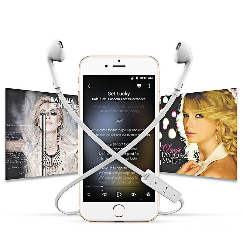 Écouteurs Bluetooth Type Earpods B3300 - Microphone et Réglage du Volume Intégrés