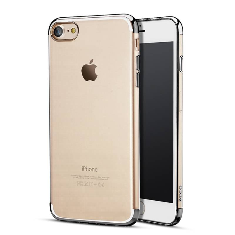 iPhone 7 - Coque TPU BASEUS Transparente - Bordures Chromes