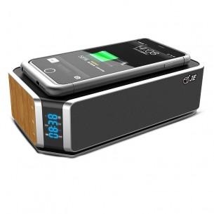 Enceinte Bluetooth Multifonction JE UT11 - Chargeur Qi Sans Fil Induction - Réveil - Bluetooth 4.0 & NFC