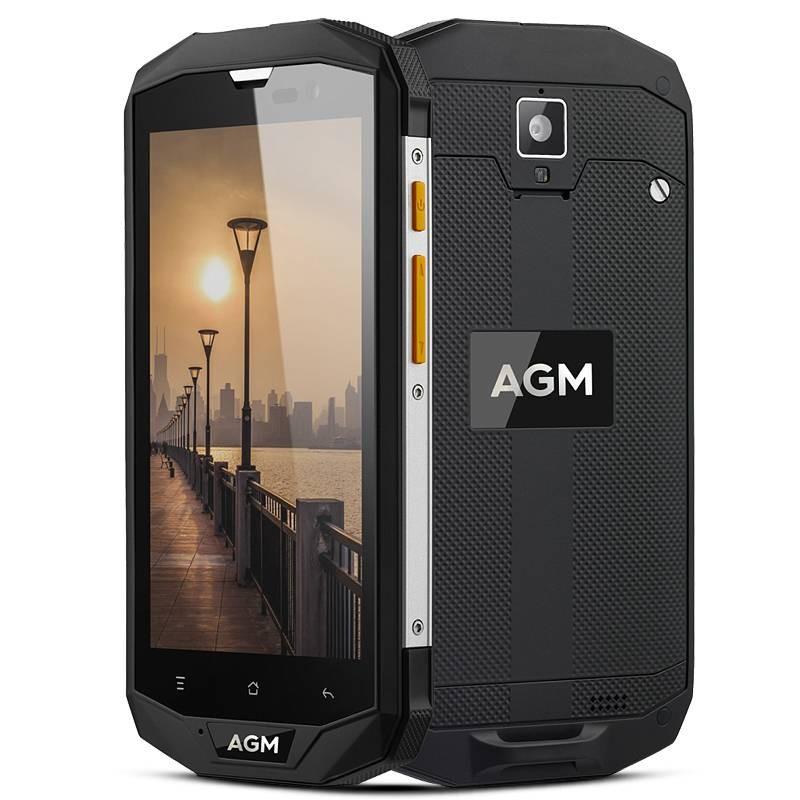 Smartphone 4G Étanche Anti-Choc AGM A8 Écran 5' HD Android 7.0 QuadCore Ram 4GB Rom 64GB WiFi Bluetooth GPS NFC