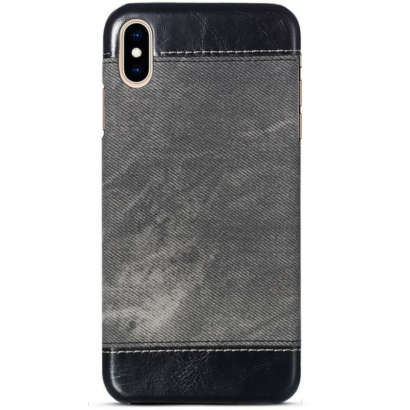 iPhone XS Max - Coque Imitation Jean Denim