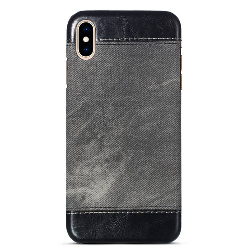 iPhone X & XS - Coque Imitation Jean Denim
