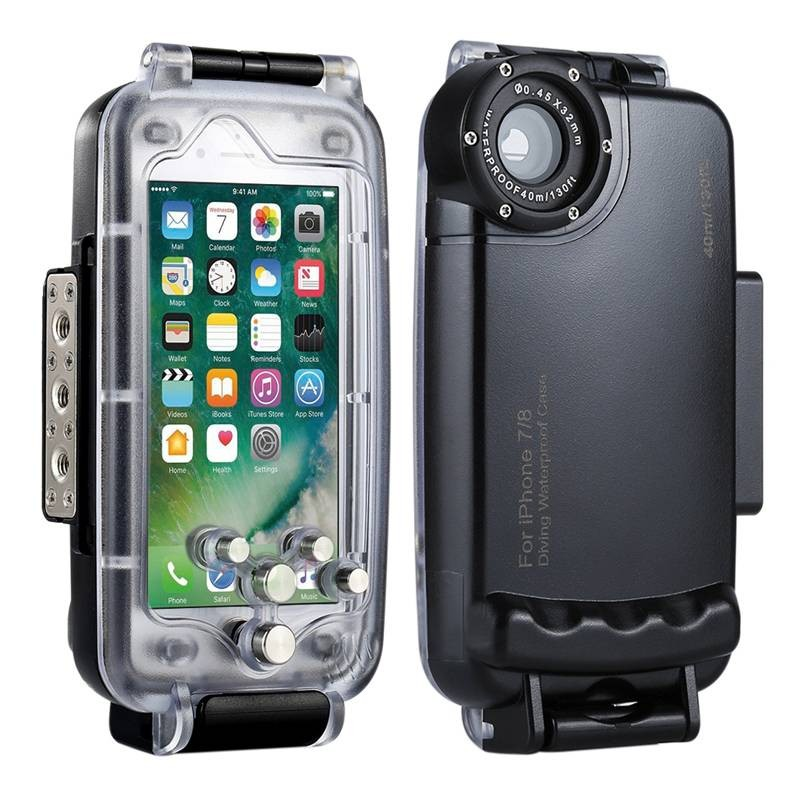 iPhone 7 & 8 - Caisson Étanche Transparent pour Prises de Vues Sous-Marines - Étanche jusqu'à 40 Mètres