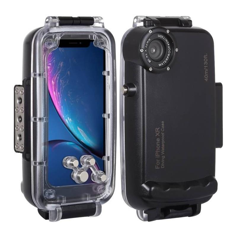 iPhone XR - Caisson Étanche Transparent pour Prises de Vues Sous-Marines - Étanche jusqu'à 40 Mètres
