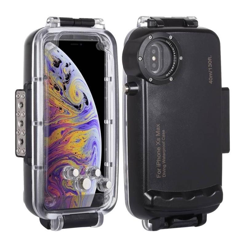 iPhone XS Max - Caisson Étanche Transparent pour Prises de Vues Sous-Marines - Étanche jusqu'à 40 Mètres