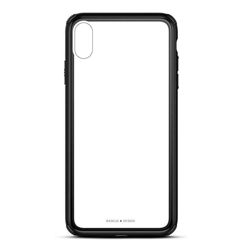 iPhone X & XS - Coque BASEUS en Silicone & Verre Trempé Transparent