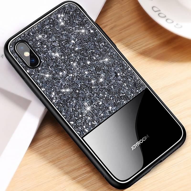 """iPhone XS Max - Coque JOYROOM """"Dazzling Series"""" - Revêtement à Paillettes"""