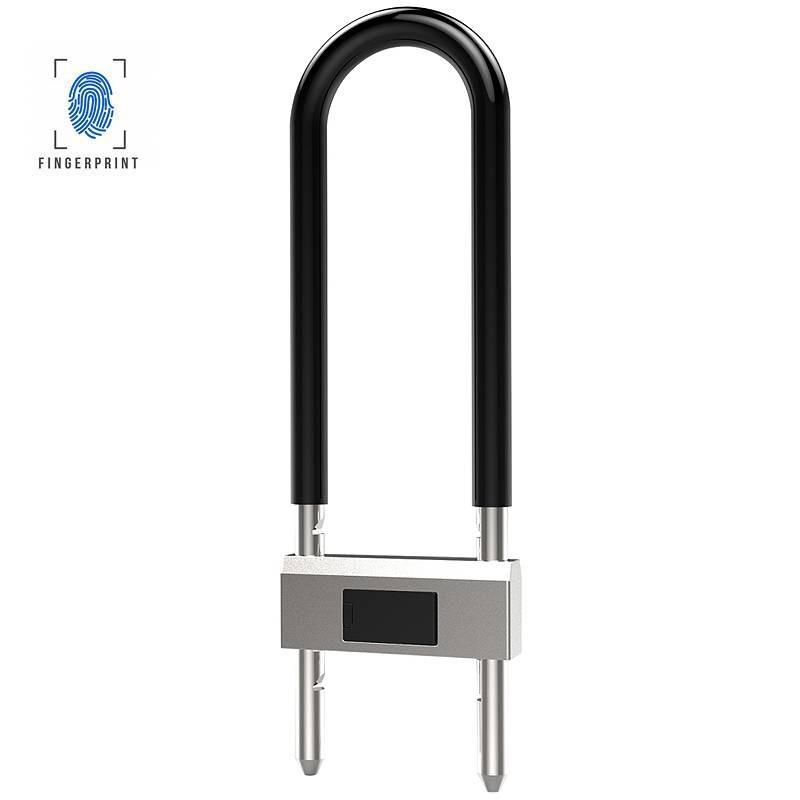 Antivol U Biométrique & Bluetooth - Étanche IP65 - Déverrouillage par Empreintes Digitales & Smartphone