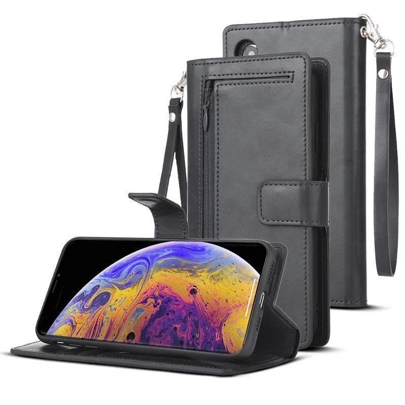 iPhone X & XS - Étui Portefeuille M. GOOSPERY - 5 Pochettes & Coque Détachable