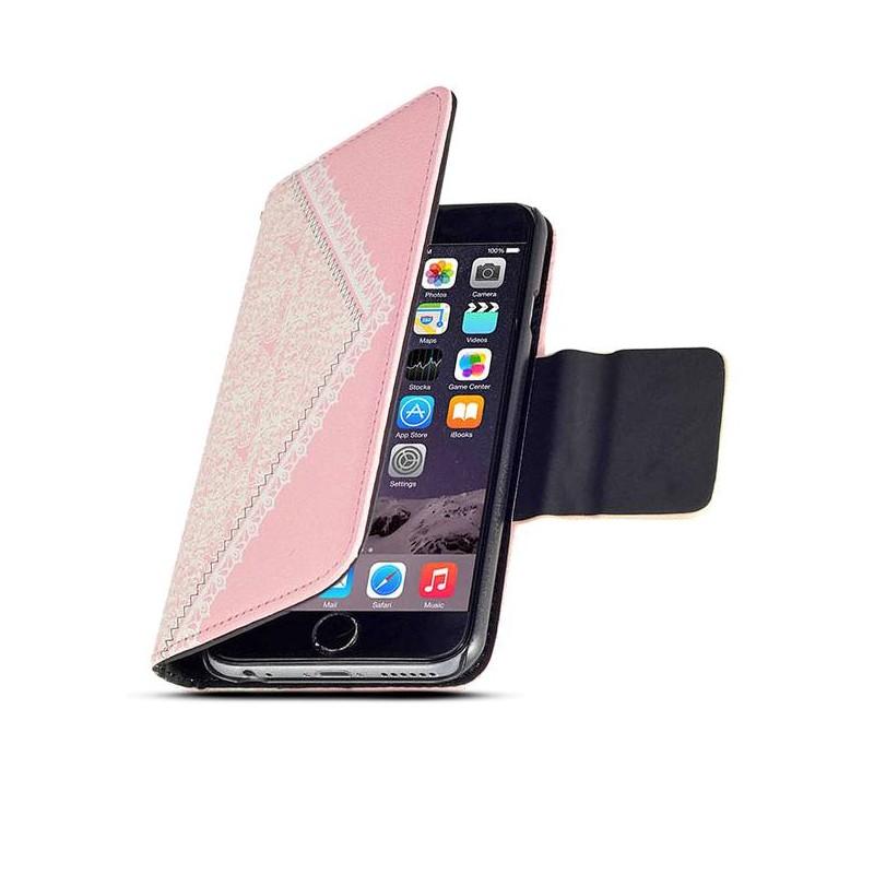 iPhone 6 - Étui Portefeuille Sac à Main Chic - Pochettes CB - Rose