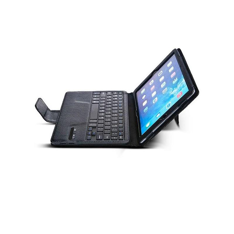 iPad Air 2 - Étui avec Clavier Bluetooth Détachable - Noir