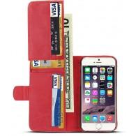 iPhone 6 Plus - Étui Portefeuille 9 Poches Intérieures - Rouge