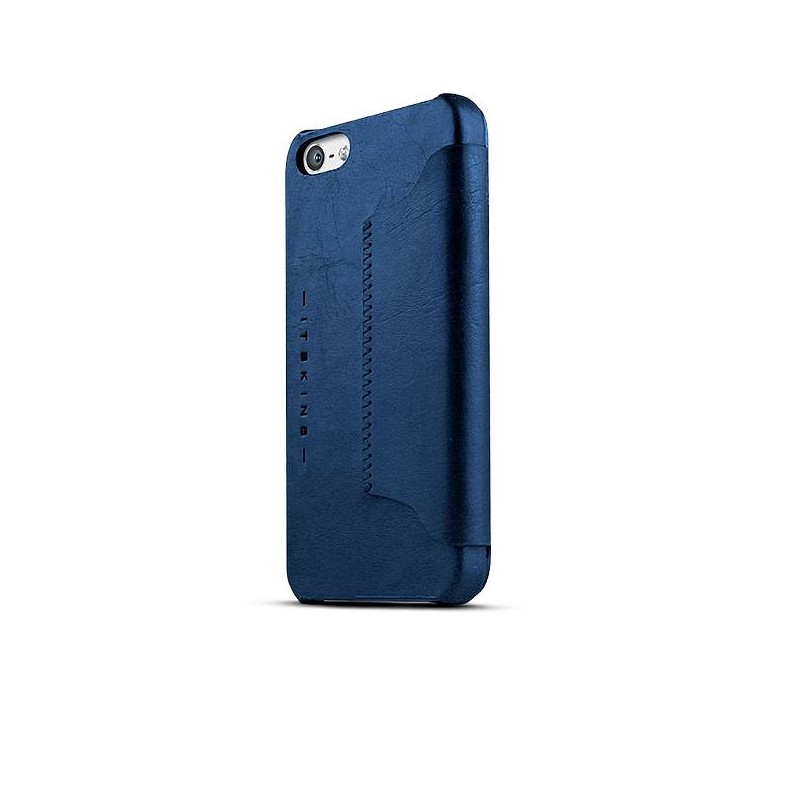 """iPhone 5 & 5S - Étui Inclinable ITSKINS - Modèle """"Visionary Drift"""" - Bleu foncé"""