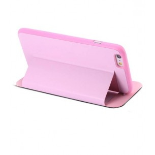 iPhone 6 Plus - Etui Double Fenêtre d'Appel - Rose