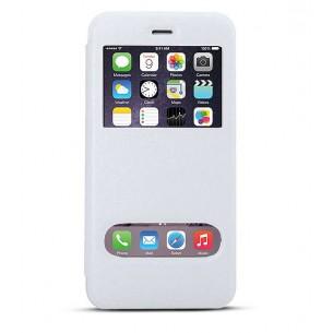 iPhone 6 Plus - Etui Double Fenêtre d'Appel - Blanc