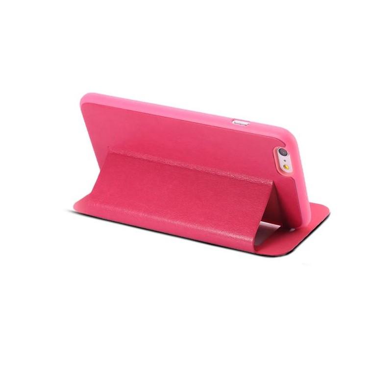 iPhone 6 Plus - Etui Double Fenêtre d'Appel - Rouge