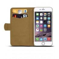iPhone 6 - Étui Portefeuille CB avec Coeur en Strass