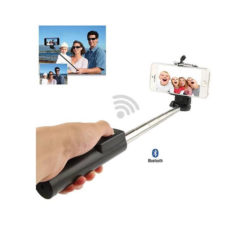 Perche Téléscopique Bluetooth pour iPhone & Android - Compatible pour Smartphone de 5,5 à 8,5 cm