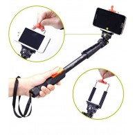 Perche Téléscopique Bluetooth YUNTENG pour Smartphone & Appareil Photo - Compatible pour Smartphone de 5,5 à 8,5 cm