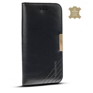 iPhone 6 Plus - Étui Portefeuille en Cuir Véritable Kalaideng Royal - Pochettes CB - Noir