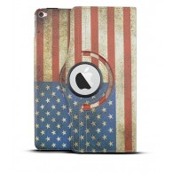 "iPad Air 2 - Étui Inclinable Rotatif - Motif Drapeau USA Façon ""Vintage"""