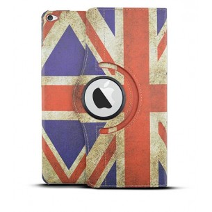 "iPad Air 2 - Étui Inclinable Rotatif - Motif Drapeau UK Façon ""Vintage"""