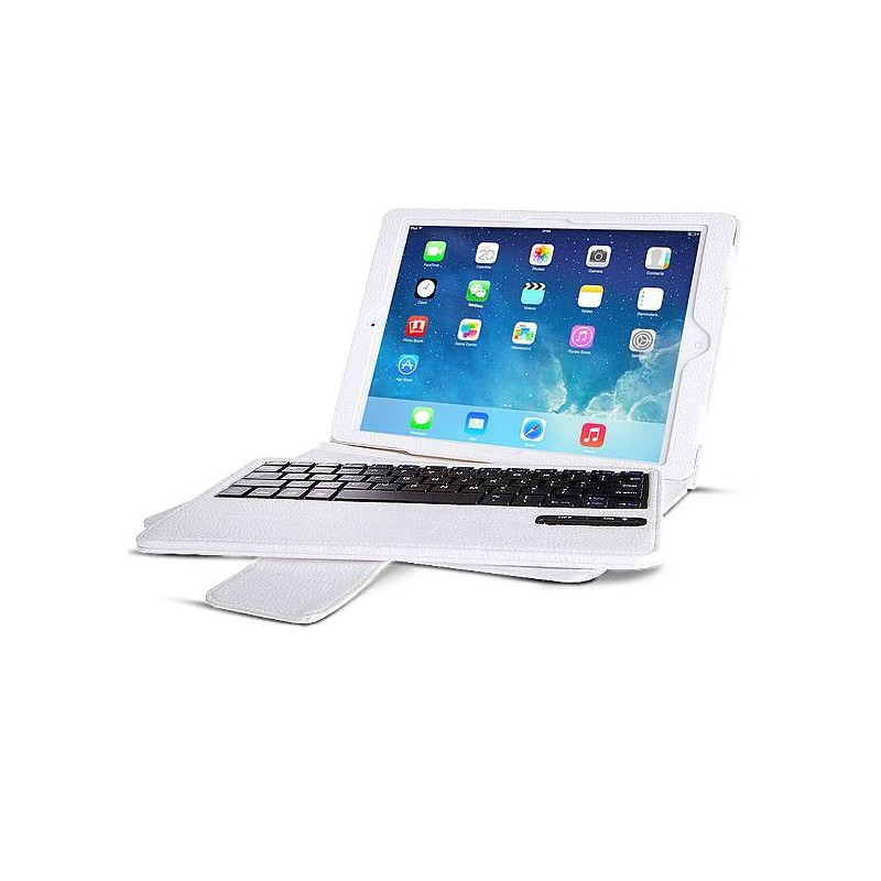 iPad Air 2 - Étui Clavier Bluetooth Détachable - Blanc