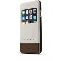 iPhone 6 - Etui Inclinable Baseus Bicolore avec Fenêtre d'Appel - Crème & Brun