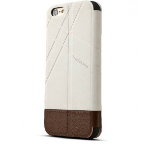 iPhone 6 Plus - Etui Inclinable Baseus Bicolore avec Fenêtre d'Appel - Sable & Brun
