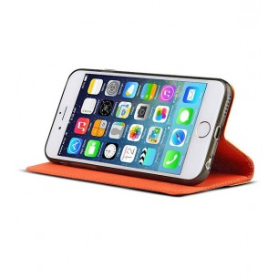 iPhone 6 Plus - Etui Inclinable BASEUS Motif Pied de Poule - Pochette CB - Rouge