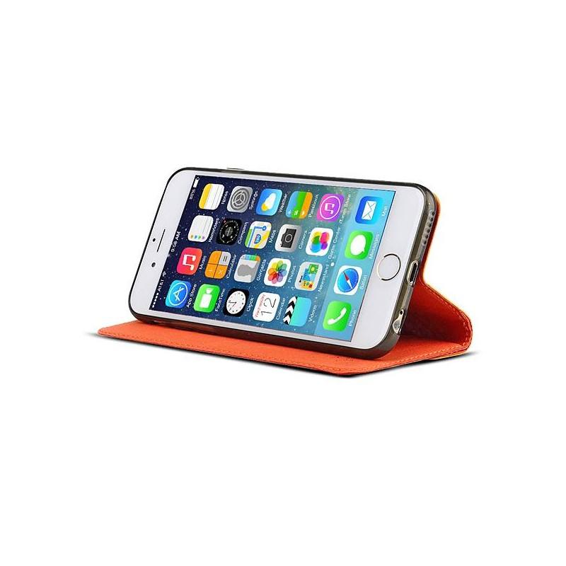 iPhone 6 Plus - Etui Inclinable BASEUS Motif Pied de Poule - Pochette CB - Rouge