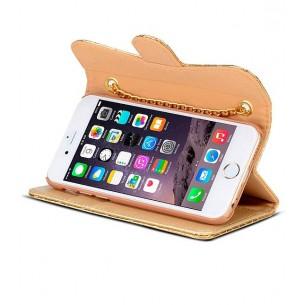 iPhone 6 - Étui Portefeuille Chic Capiton - Pochettes CB - Gold