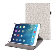 iPad Air 2 - Étui Rotatif Inclinable Motif Léopard - Blanc