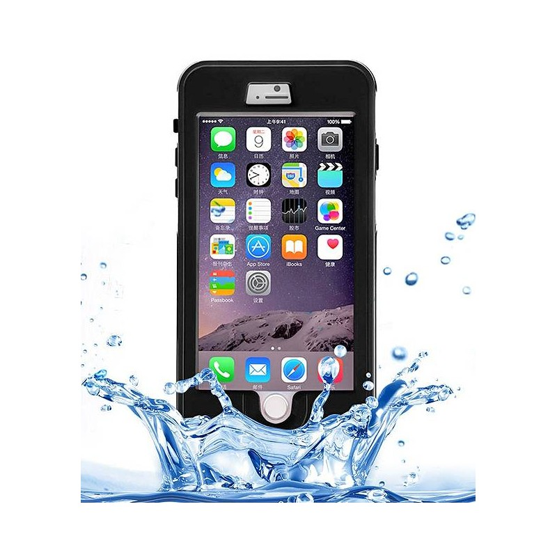 iPhone 6 Plus - Coque Étanche Anti-Choc Anti-Poussière Anti-Rayure LINK DREAMS IP68 - Noir