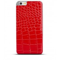 iPhone 6 Plus - Coque Imitation Crocodile - Rouge