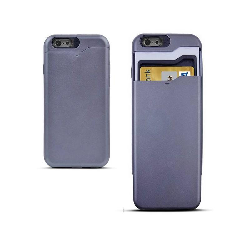 iPhone 6 & 6S - Coque Porte CB - Anthracite