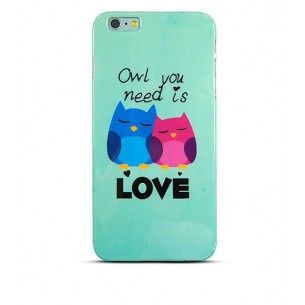 "iPhone 6 - Housse TPU ""Owl You Need is Love"""