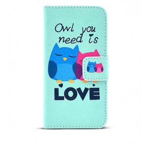 "iPhone 6 - Etui Inclinable CB avec Motif ""Owl You Need is Love"""